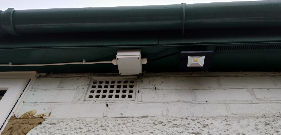 Exterior Lighting. LED Floodlight. Junction Box. FP200 Cable.