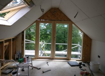 Loft conversion with velfac windows